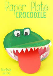 Paper Plate Crocodile Crafts