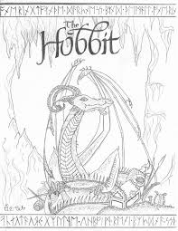 The Hobbit Coloring Pages Smaug At