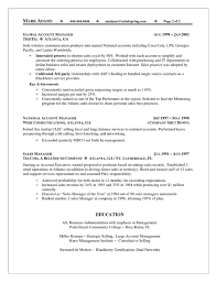 Territory Sales Account Manager Resume Example
