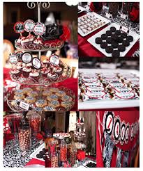 Graduation Table Decorations Homemade by Decorate This Cute Black Red White Party Decor Few Of My