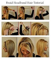 DIY Braid Headband Hair Tutorial