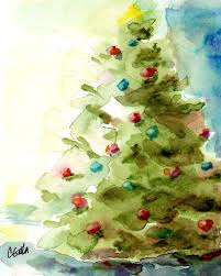 Ge Itwinkle Christmas Tree by Painting Watercolor Christmas Cards Christmas Lights Decoration