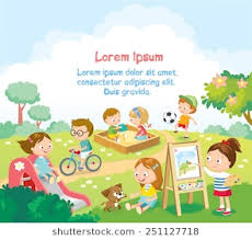 Kids Playing Outside Stock Vector Royalty Free 788455555
