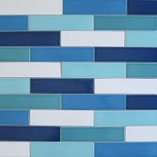 Vapor Light Blue Glass Subway Tile by Jasper Blue Gray 3x6 Glass Subway Tiles Rocky Point Tile