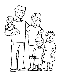 Family Coloring Page Pages Of A Printable Sheets Line Drawings