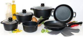 elo meine küche topf set aluminiumguss set 10 tlg 4 töpfe 3 deckel 2 pfannen 1 paar pfannenschoner kaufen otto