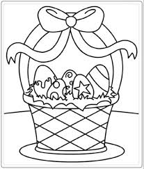 Easter Basket Free Printable Coloring Pages For Kids