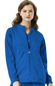 Ceil Blue Print Scrub Jackets by Women U0027s Scrub Jackets Solid Colors Scrub Jackets For Women