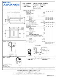 Dazor Lamp Wiring Diagram by 71a8473001d Ballast Kit Hps 400w Quad S51 120 208 240 277 Volt
