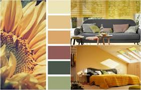 farbe ocker kombinieren altrosa grün wohnzimmer schlafzimmer