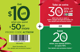 Kohls: $10 Off Orders Of $50 Or More Today Only! Plus, 30 ...