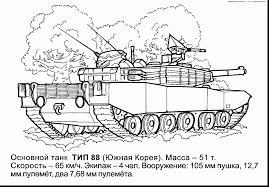 Astonishing Army Tank Coloring Pages With And Free