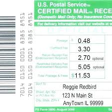 Certified Return Receipt Cost How Much To Send A Letter Certified
