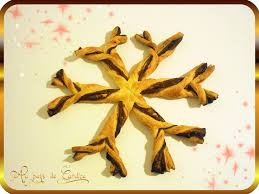 sapins et flocon en pâte feuilletée au pays de candice