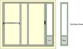 Dog Door For Sliding Door Fantastic Pet Patio Door With Pet Door