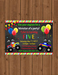 Monster Truck Invitation / Monster Truck Invite / Monster Truck ... Monster Contruck Invitation Invite Pics Of Truck Fresh Birthday Invitations Personalized Invitation Boy By Uprint Etsy Party Ideas At In A Box 50 Off Sale 2nd Svg And Printable Clipart To Make Nice 94 In Design With Frozen Elsa Anna Trucks Food Jam Supplies Monster Truck Birthday Truck Birthday Party Invites Tonys 6th Bday