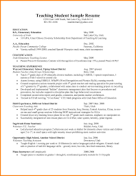 Sample Resume For High School Biology Teacher Best Of Example Student Teaching Template