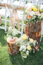 Rustic Boho Tree Stump Wedding Decor