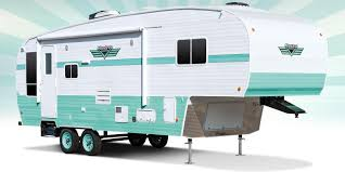 Vintage Campers And Travel Trailers Retro Fifth Wheels