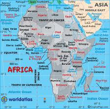 Landforms Of Africa Deserts Mountain Ranges