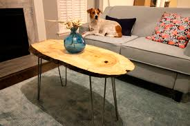 diy live edge wood slab coffee table u2022 charleston crafted