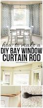 Kitchen Curtain Ideas Diy by Diy Bay Window Curtain Rod For Less Than 10 Diy Bay Window