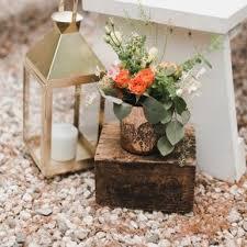 Gold Lantern And Eucalyptus Aisle Decorations