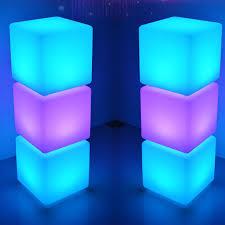 led würfel licht stimmungslicht mit fernbedienung im freien wasserdichter farbwechsel würfelhocker justierbare rgb farben und dimmbare nachtlicht