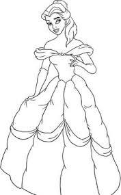 Disney Princess Ariel Was Wearing Dress Coloring Page