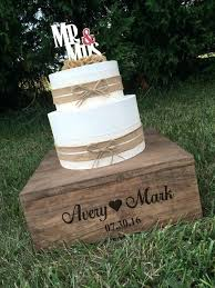 Wedding Cake Platforms Rustic Stand And Keepsake Box Personalized Wood Ideas