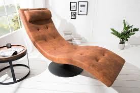 design liege ligano relaxliege vintage braun chaiselounge