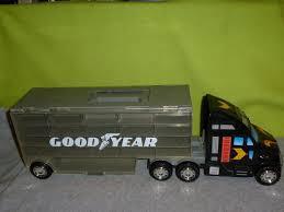 100 Matchbox Car Carrier Truck GOODYEAR TOY SEMI TRUCK CAR CASE CARRIER HOTWHEELS MATCHBOX BY