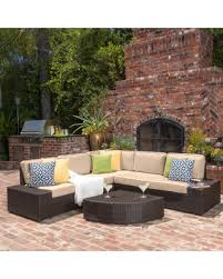 Amazing Shopping Savings Santa Cruz Outdoor 6 piece Wicker Sofa