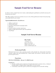 Fast Food Serversume Sample And Beverage Objective Job Duties Throughout Server Resume