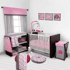 bacati elephants pink gray 10 piece nursery in a bag crib