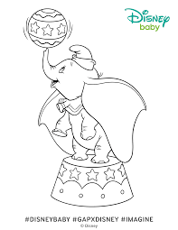 Dumbo Coloring Page 4