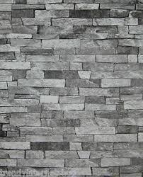 schalsteine verputzen wohnzimmer mit steintapete