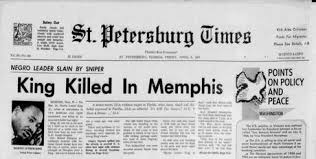 50 Years A Newspaper History Of The Assassination Martin Luther King Jr
