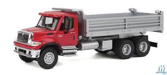 100 Red Dump Truck Walthers InternationalR 7600 3Axle HeavyDuty