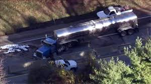 Jackknifed Tanker Truck Jams Traffic On Pa. Turnpike Near Valley ... Gasoline Spilled In Tanker Crash Could Reach Columbia River Explosion Of A Truck On The Highway Montreal Canada Pakistan Oil Tanker Crash Kills At Least 153 Nbc News Accident Carson Road Njeffersonnewscom Tank Truck Wreck Editorial Image Image Fuel 41162655 1 Dead 10 Injured After Fiery 5 Freeway Near Griffith India Accident Stock Photos 5yearold Girl Killed 60 Idd All Lanes Reopen Temporarily Closes Westbound Victory Way Wednesday Carrying Chicken Feed Overturns Blocking Safety Design Equipment And Human Factor Saferack Hror Three Critical As Small Car Squashed