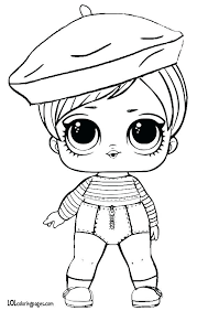Doll Coloring Pages Beatnik Babe Series 3 Surprise Page Lol Little Unicorn Pag