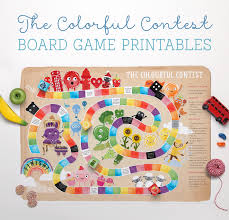 FREE Colourful Contest Board Game Printable