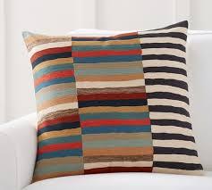 carson crewel stripe pillow cover pottery barn