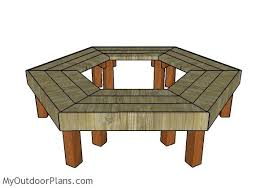 tree bench plans myoutdoorplans free woodworking plans and