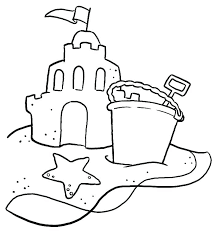 Drawing Of A Sandcastle Sand Castle Coloring Page Pages Clip Art