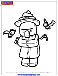 Minecraft Witch Coloring Page