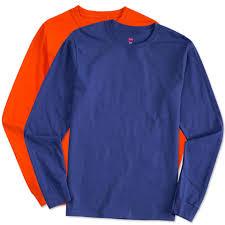 custom hanes comfortsoft long sleeve tagless t shirt design