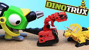 100 Dinosaur Truck DinoTrux NEW Giant Revvit Finds Ray Gun In Play Doh