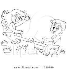 Royalty Free RF Seesaw Clipart Illustrations Vector Graphics 1