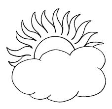 Sun Coloring Pages Clouds Free Safety Sunflower For Preschoolers And Moon Adults